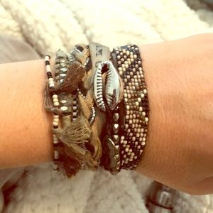 Hipanema Beaded Shell Wrap Magentic Bracelet